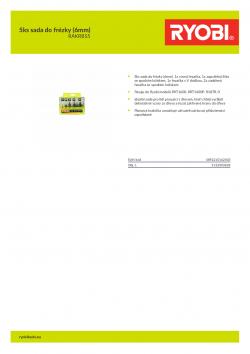 RYOBI RAKRBS5 5ks sada do frézky (6mm) 5132003828 A4 PDF