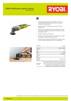 RYOBI RMT300 300W Multifunkční nářadí s kufrem 5133002434 A4 PDF