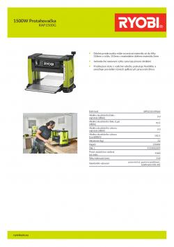 RYOBI RAP1500G 1500W Protahovačka 5133002859 A4 PDF