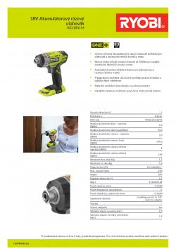 RYOBI RID1801 18V Akumulátorový rázový utahovák 5133001168 A4 PDF
