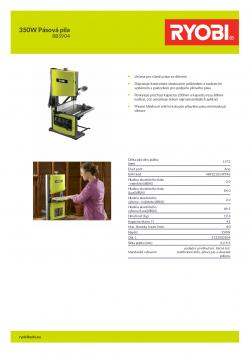 RYOBI RBS904 350W Pásová pila 5133002854 A4 PDF