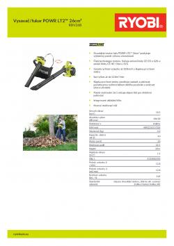 RYOBI RBV26B Vysavač/fukar POWR LT2™ 26cm³ 5133002353 A4 PDF