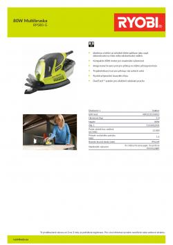 RYOBI RPS80 80W Multibruska 5133002905 A4 PDF