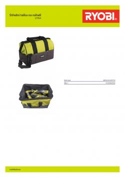 RYOBI UTB4 Střední taška na nářadí 5132002553 A4 PDF
