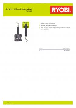RYOBI RLYARD 2x ONE+ šňůrový závěs nářadí 5132004299 A4 PDF