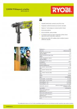 RYOBI RPD1200 1200W Příklepová vrtačka 5133002067 A4 PDF