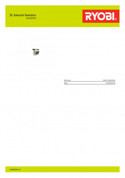 RYOBI RGA005 5L kanystr benzínu 5132002518 A4 PDF