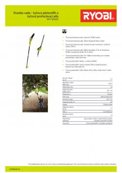 RYOBI RP750450 Kombo sada - tyčový plotostřih a tyčová prořezávací pila 5133002315 A4 PDF