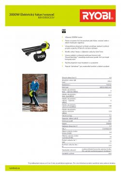 RYOBI RBV3000CESV 3000W Elektrický fukar/vysavač 5133002190 A4 PDF