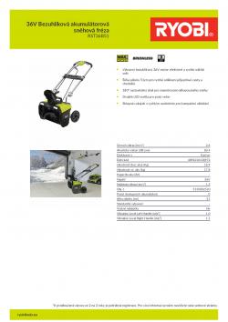 RYOBI RST36B51 36V Bezuhlíková akumulátorová sněhová fréza 5133002520 A4 PDF