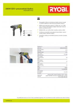 RYOBI RSDS680 680W SDS+ pneumatické kladivo 5133002499 A4 PDF