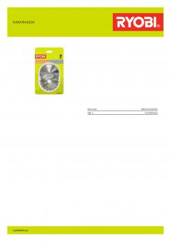 RYOBI RAKMMS02K  5132004662 A4 PDF