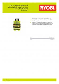 RYOBI RAK10JSBMP 10ks sada pilových plátků do přímočaré pily (do dřeva, kovu, trubek, žuly či dlažeb) 5132002812 A4 PDF