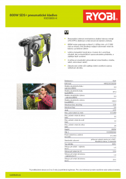 RYOBI RSDS800 800W SDS+ pneumatické kladivo 5133002463 A4 PDF