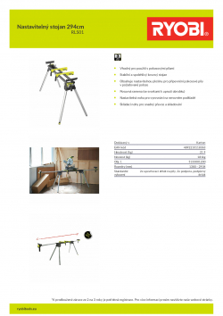 RYOBI RLS0 Nastavitelný stojan 294cm 5133001200 A4 PDF