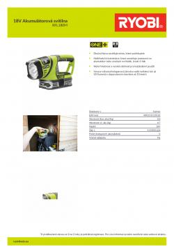 RYOBI RFL180 18V Akumulátorová svítilna 5133001636 A4 PDF