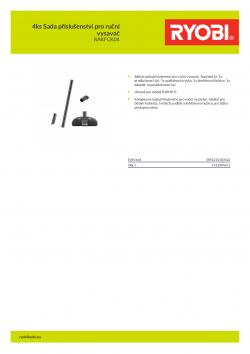 RYOBI RAKFCK04 4ks Sada příslušenství pro ruční vysavač 5132004612 A4 PDF