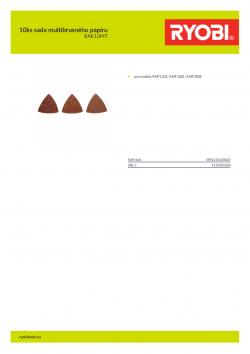 RYOBI RAK10MT 10ks sada multibrusného papíru 5132002600 A4 PDF