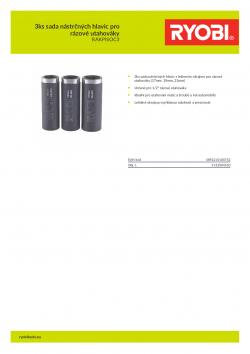 RYOBI RAKPISOC3 3ks sada nástrčných hlavic pro rázové utahováky 5132004520 A4 PDF