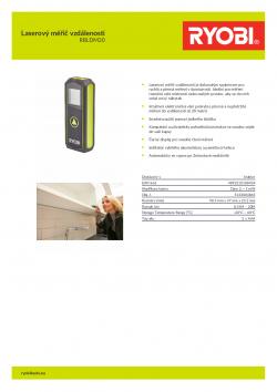 RYOBI RBLDM20 Laserový měřič vzdálenosti 5133004865 A4 PDF