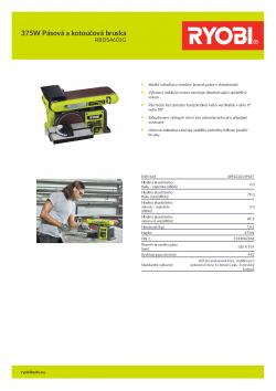 RYOBI RBDS4601G 375W Pásová a kotoučová bruska 5133002858 A4 PDF
