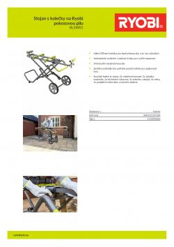 RYOBI RLSW01 Stojan s kolečky na Ryobi pokosovou pilu 5133004826 A4 PDF