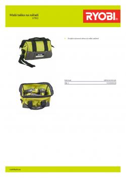 RYOBI UTB2 Malá taška na nářadí 5132000100 A4 PDF