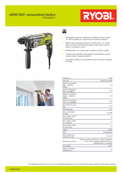 RYOBI RSDS680 680W SDS+ pneumatické kladivo 5133002444 A4 PDF