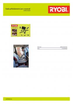 RYOBI RAKVA04 Sada příslušenství pro vysavač 5132004832 A4 PDF