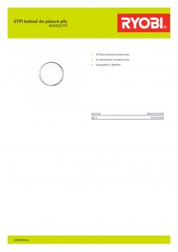 RYOBI RAKBS6TPI 6TPI kotouč do pásové pily 5132003385 A4 PDF