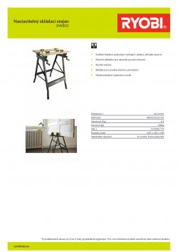 RYOBI RWB02 Nastavitelný skládací stojan 5133001779 A4 PDF