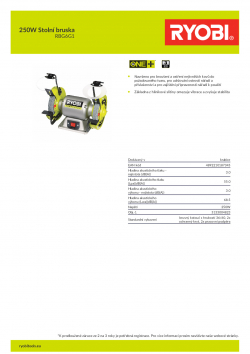 RYOBI RBG6G1 250W Stolní bruska 5133004823 A4 PDF