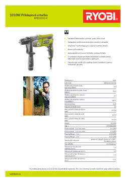 RYOBI RPD1010 1010W Příklepová vrtačka 5133002058 A4 PDF