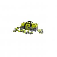 RYOBI R18CK4E-242S 18V Akumulátorová čtyřdílná kombo sada 5133004757