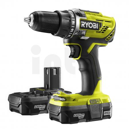 RYOBI R18DD3 18V Akumulátorový vrtací šroubovák (2x1.3Ah) 5133003882