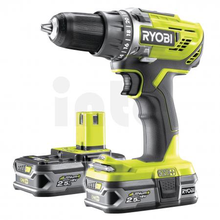 RYOBI R18DD3 18V Akumulátorový vrtací šroubovák (2x2.5Ah) 5133003349