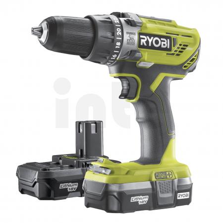 RYOBI R18PD3 18V Akumulátorová příklepová vrtačka (2x1.3Ah) 5133003696