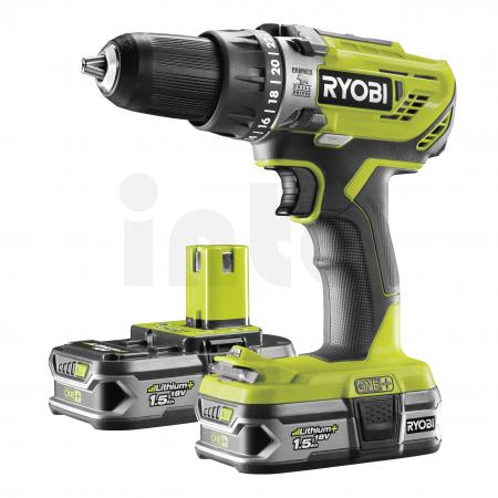 RYOBI R18PD3 18V Akumulátorová příklepová vrtačka (2x1.5Ah) 5133003339