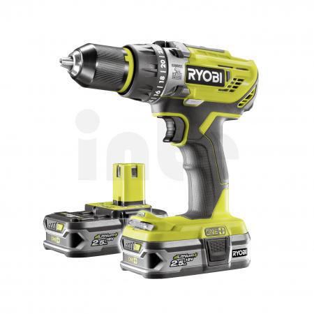 RYOBI R18PD3 18V Akumulátorová příklepová vrtačka (2x2.5Ah) 5133003433