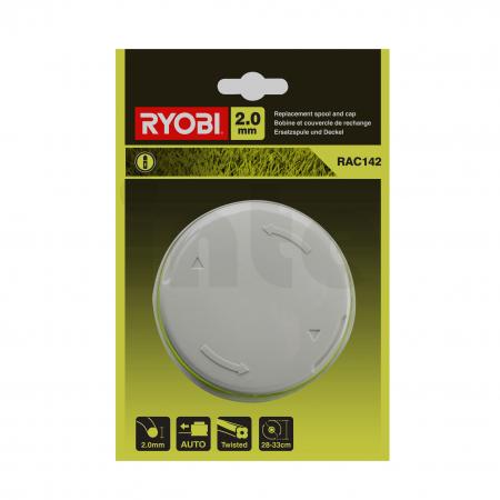 RYOBI RAC142 Cívka a kryt do Ryobi 36V akumulátorové strunové sekačky (2.0mm struna) 5132002769