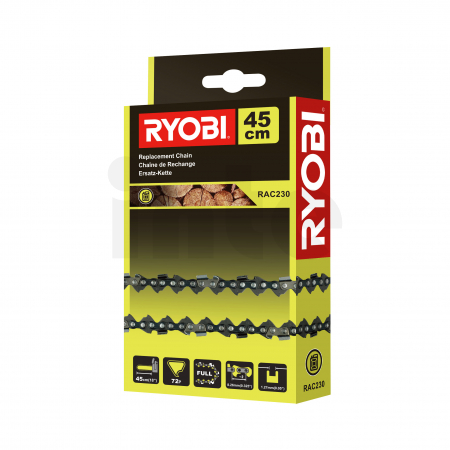 """RYOBI RAC230 18""""/45cm řetěz do benzínové řetězové pily 5132002476"""