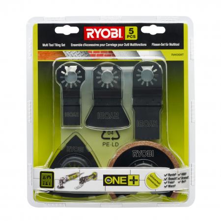 RYOBI RAK05MT 5ks univerzální sada plátků do multifunkčního nářadí 5132002787