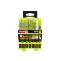 RYOBI RAK10JSBMP 10ks sada pilových plátků do přímočaré pily (do dřeva, kovu, trubek, žuly či dlažeb) 5132002812
