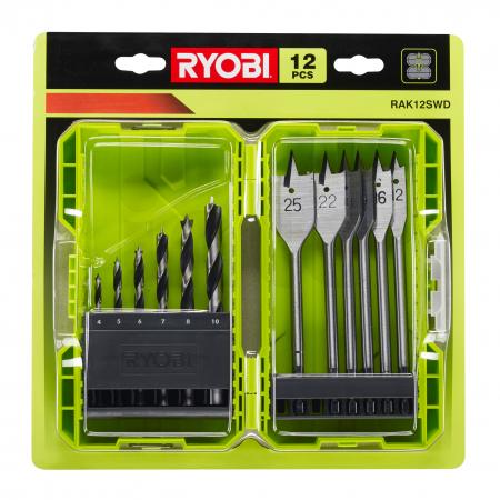 RYOBI RAK12SWD 12ks sada vrtáků do dřeva 5132003302