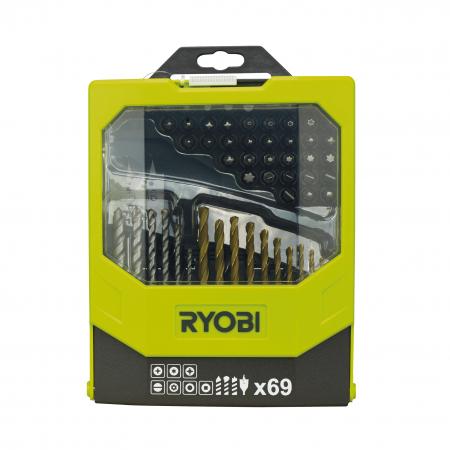 RYOBI RAK69MIX 69ks sada vrtáků a šroubovacích bitů 5132002687