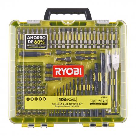 RYOBI RAKDD106 106ks sada vrtacích a šroubovacích bitů 5132004759