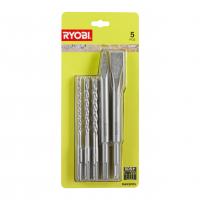 RYOBI RAKSP05 5ks sada SDS+ bitů a sekáčů 5132004837