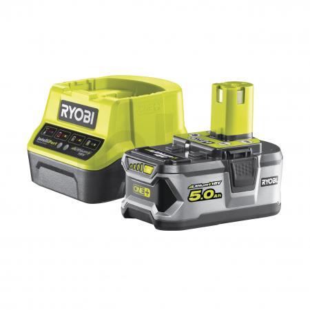 RYOBI RC18120-150 18V Sada akumulátoru 5.0Ah s nabíječkou 5133003366
