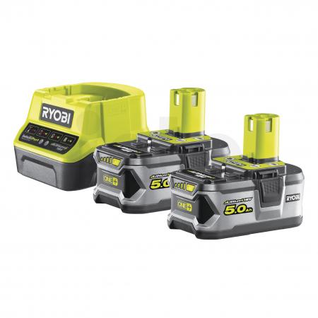 RYOBI RC18120-250 18V Sada akumulátoru s nabíječkou (2x5.0Ah) 5133003364