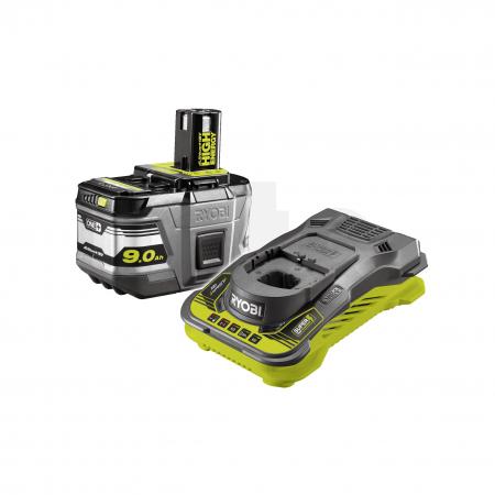RYOBI RC18150-190 18V Sada akumulátoru s nabíječkou Lithium+ HIGH ENERGY (1x9.0Ah) 5133004421